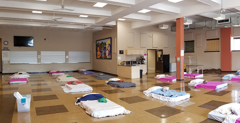 mattresses on floor at the ray of Hope Community Centre